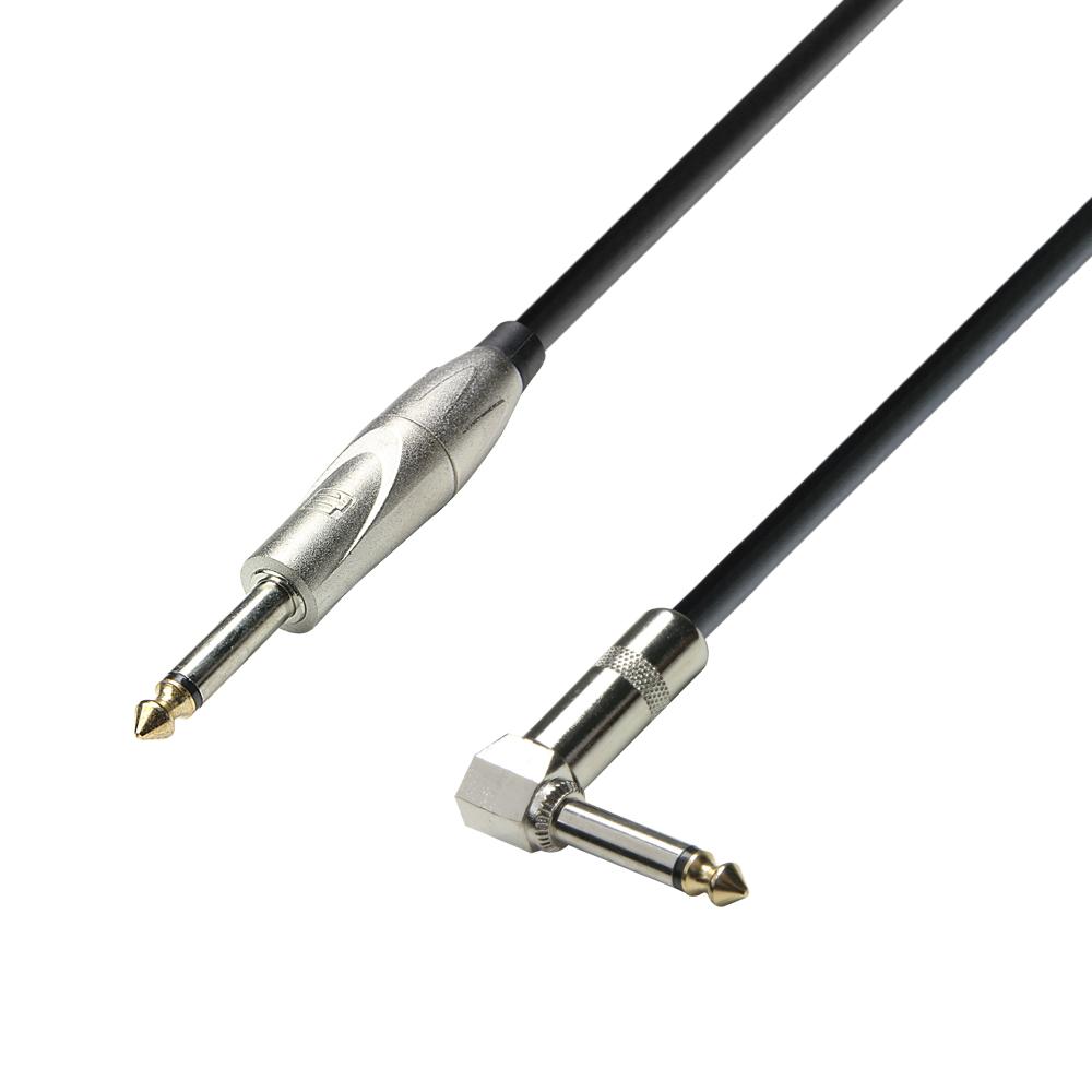Instrument Kabel 6.3 mm Jack mono til 6.3 mm Vinkel Jack mono 3 meter