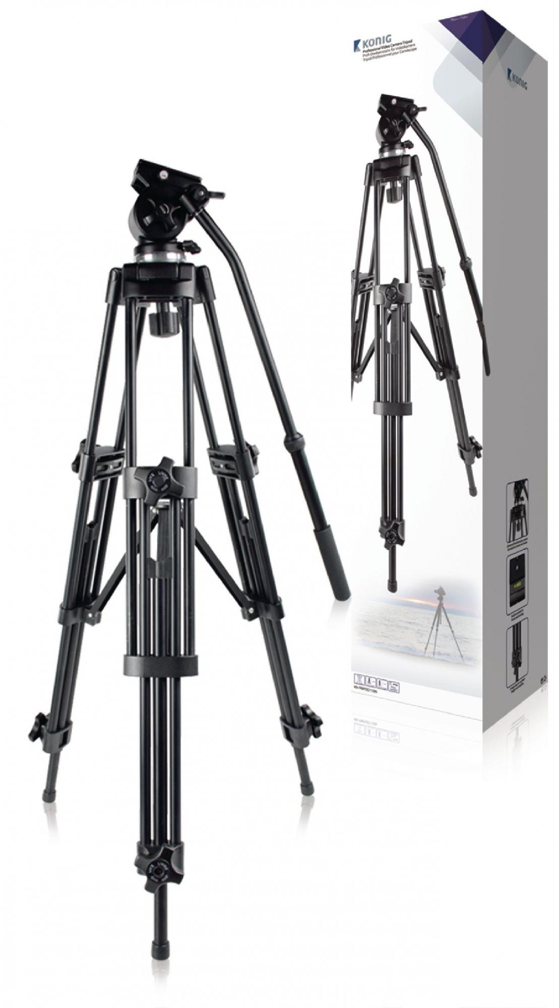 Image of   Video stativ vipbar, 150 cm. sort