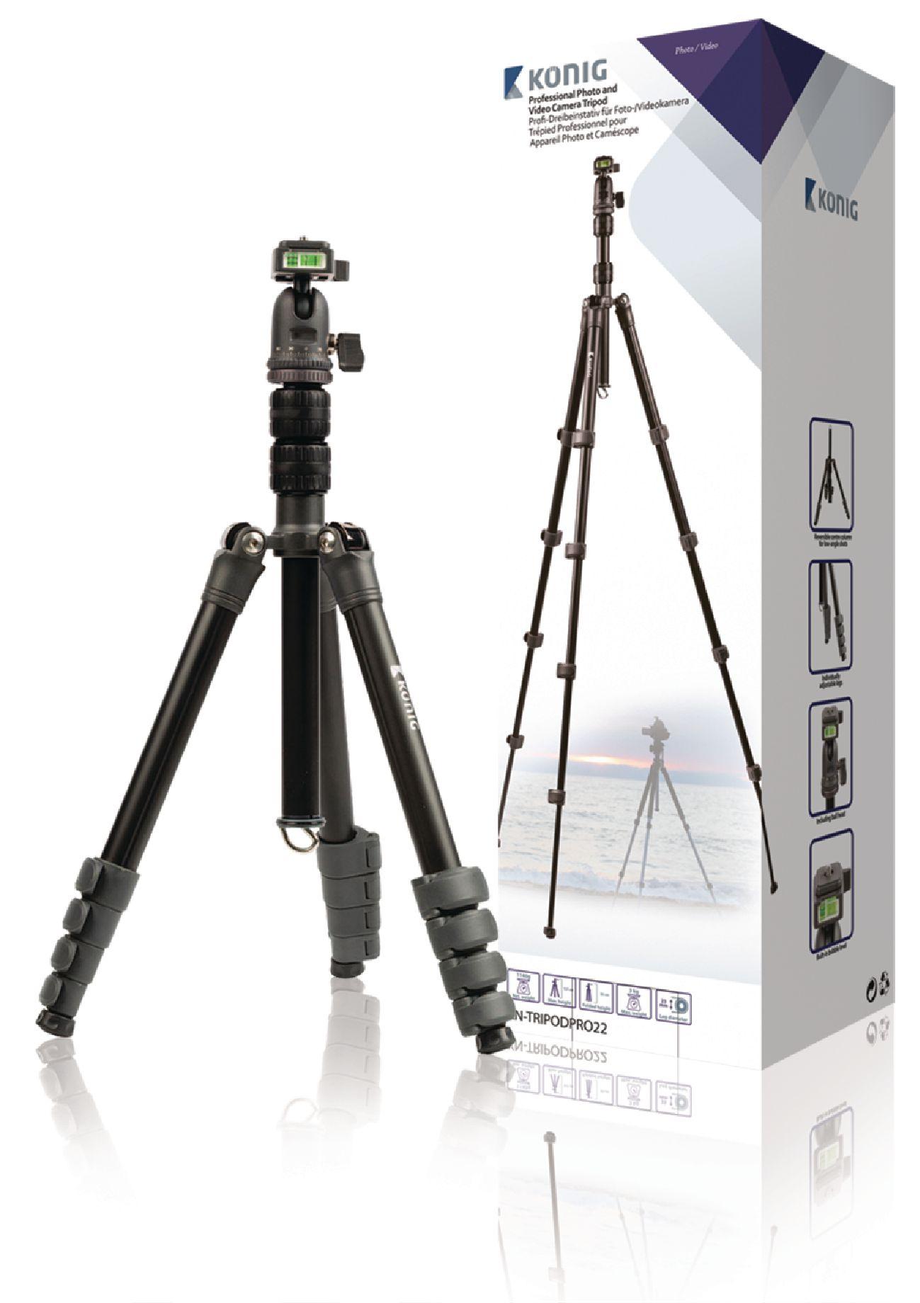 Image of   Professional kamera/video stativ hoved, 137 cm. sort