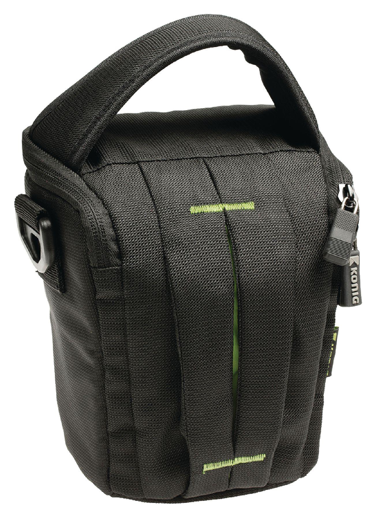 Kamera hylster taske 140x150x110, sort/grøn
