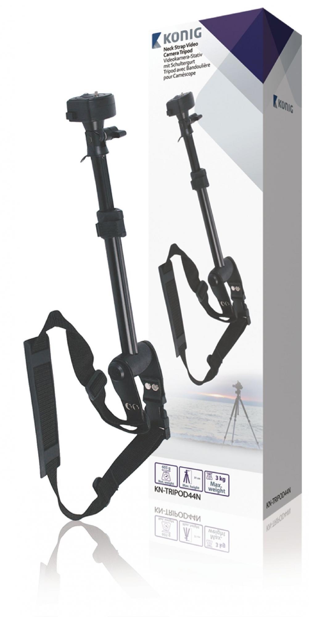 Image of   Kamera/video, ét-fods stativ, 31 cm. sort