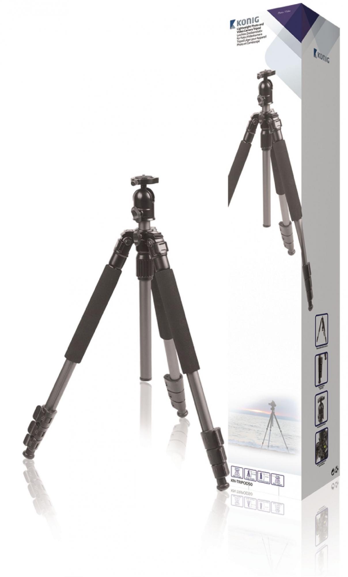 Image of   Kamera/video stativ hoved, 131.50 cm. sort