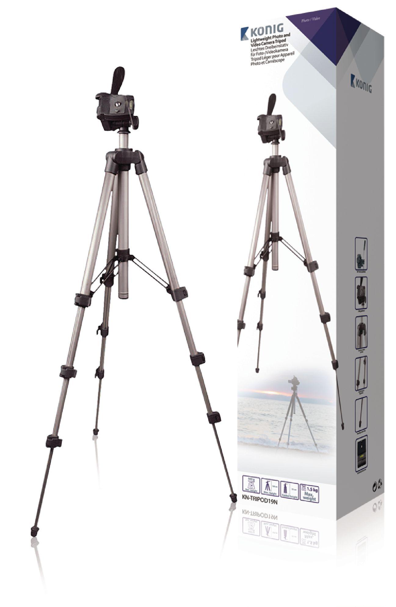 Image of   Kamera/video stativ vipbar, 105 cm. sort/sølv