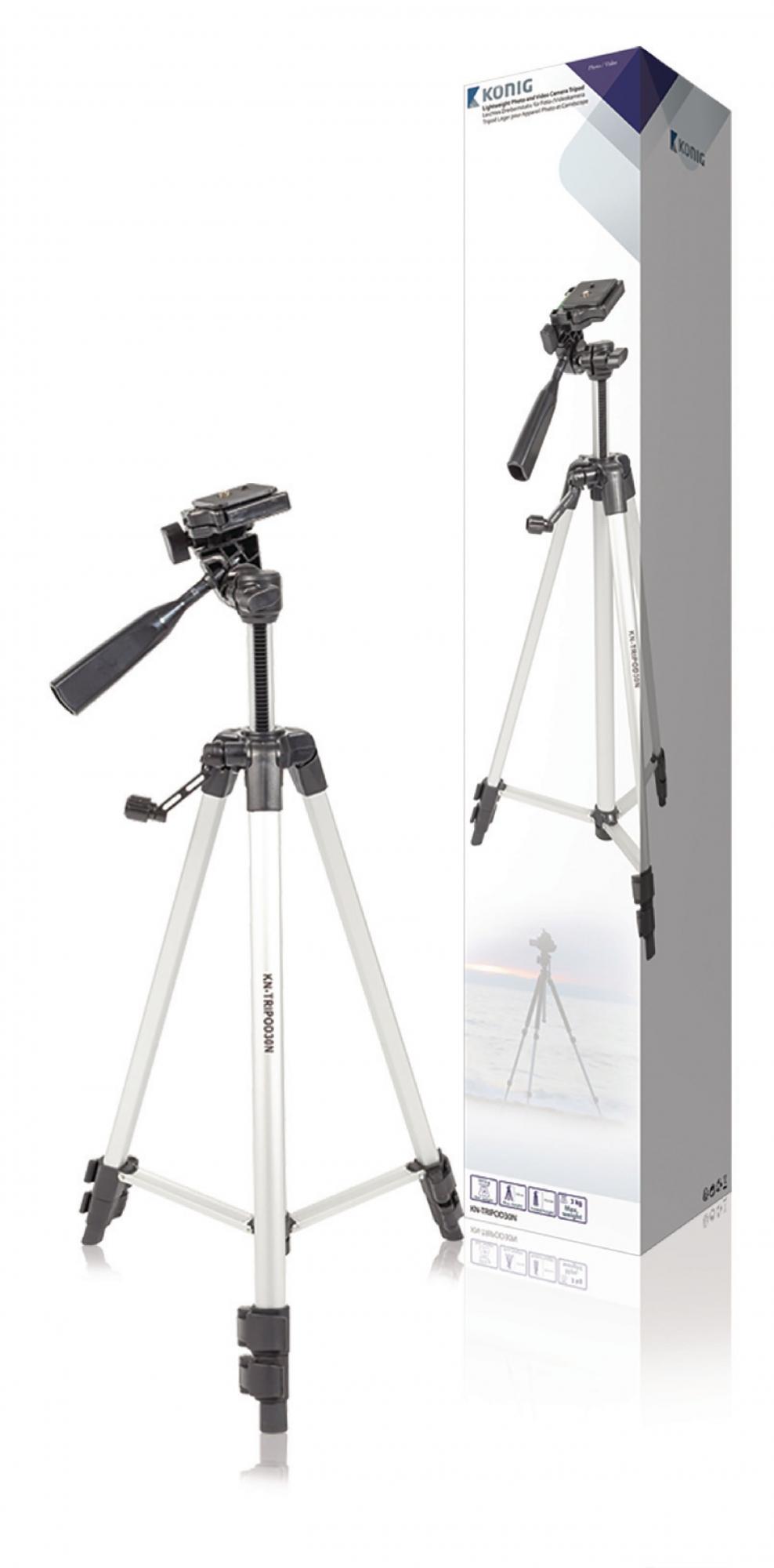 Image of   Kamera/video stativ vipbar, 134 cm. sort/sølv