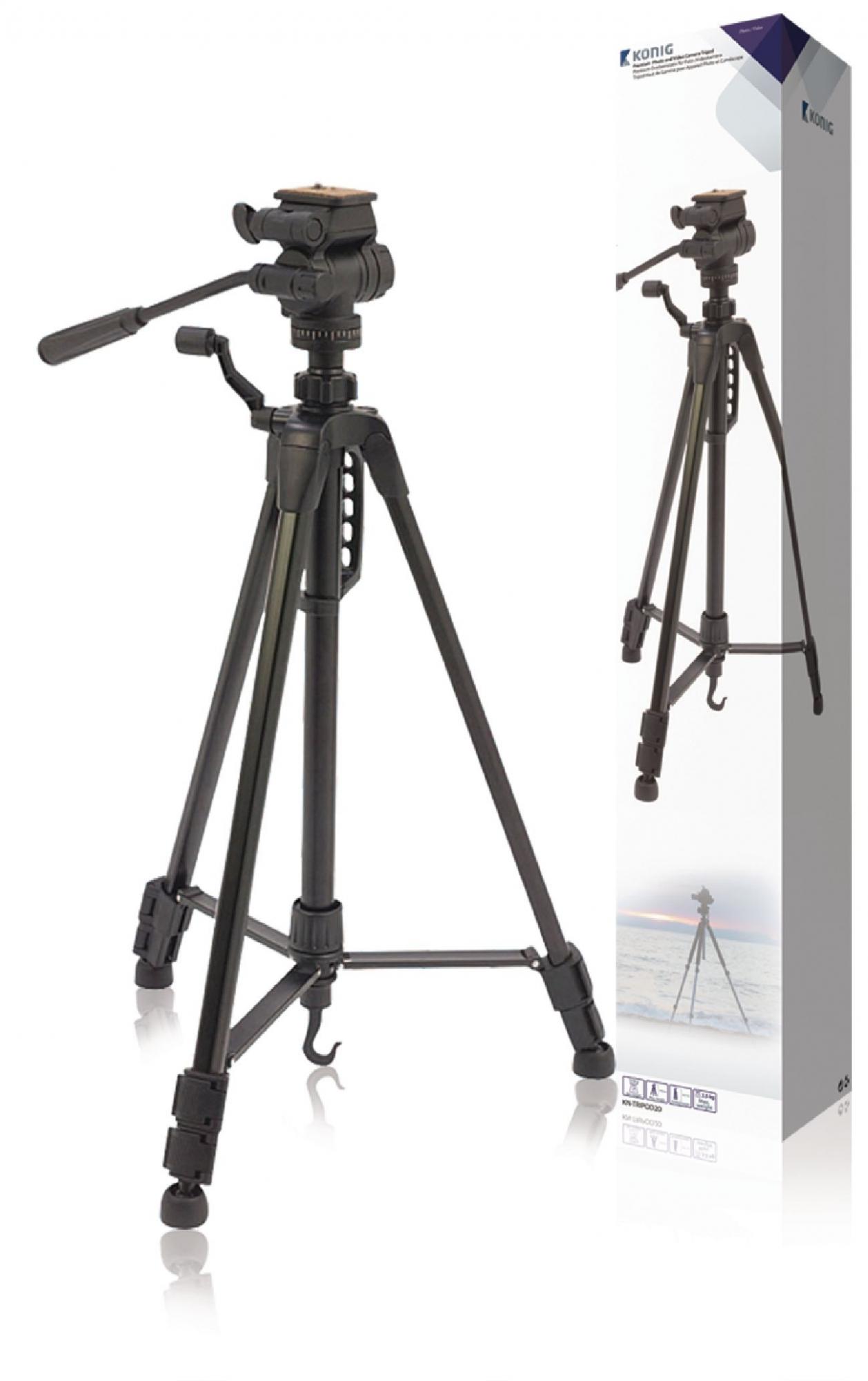 Image of   Kamera/video stativ vipbar, 148 cm. sort