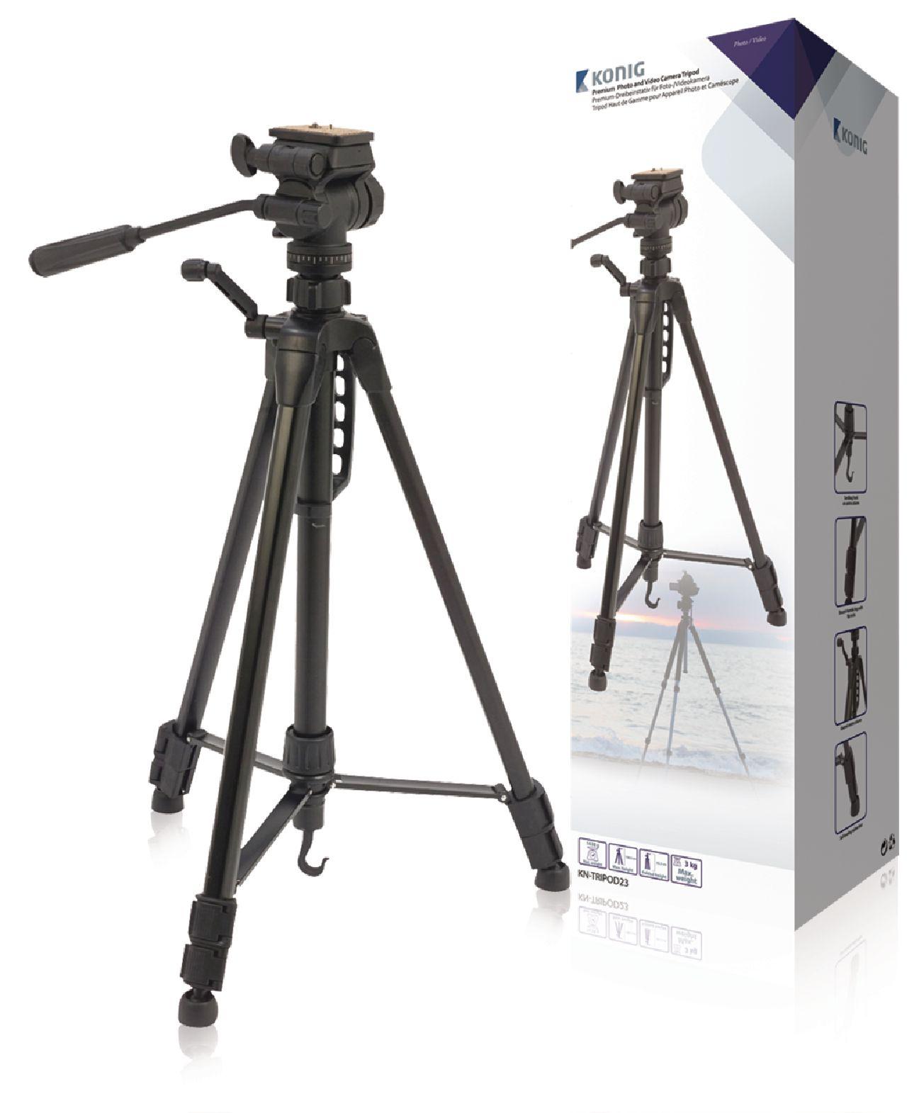 Image of   Kamera/video stativ vipbar, 160 cm. sort