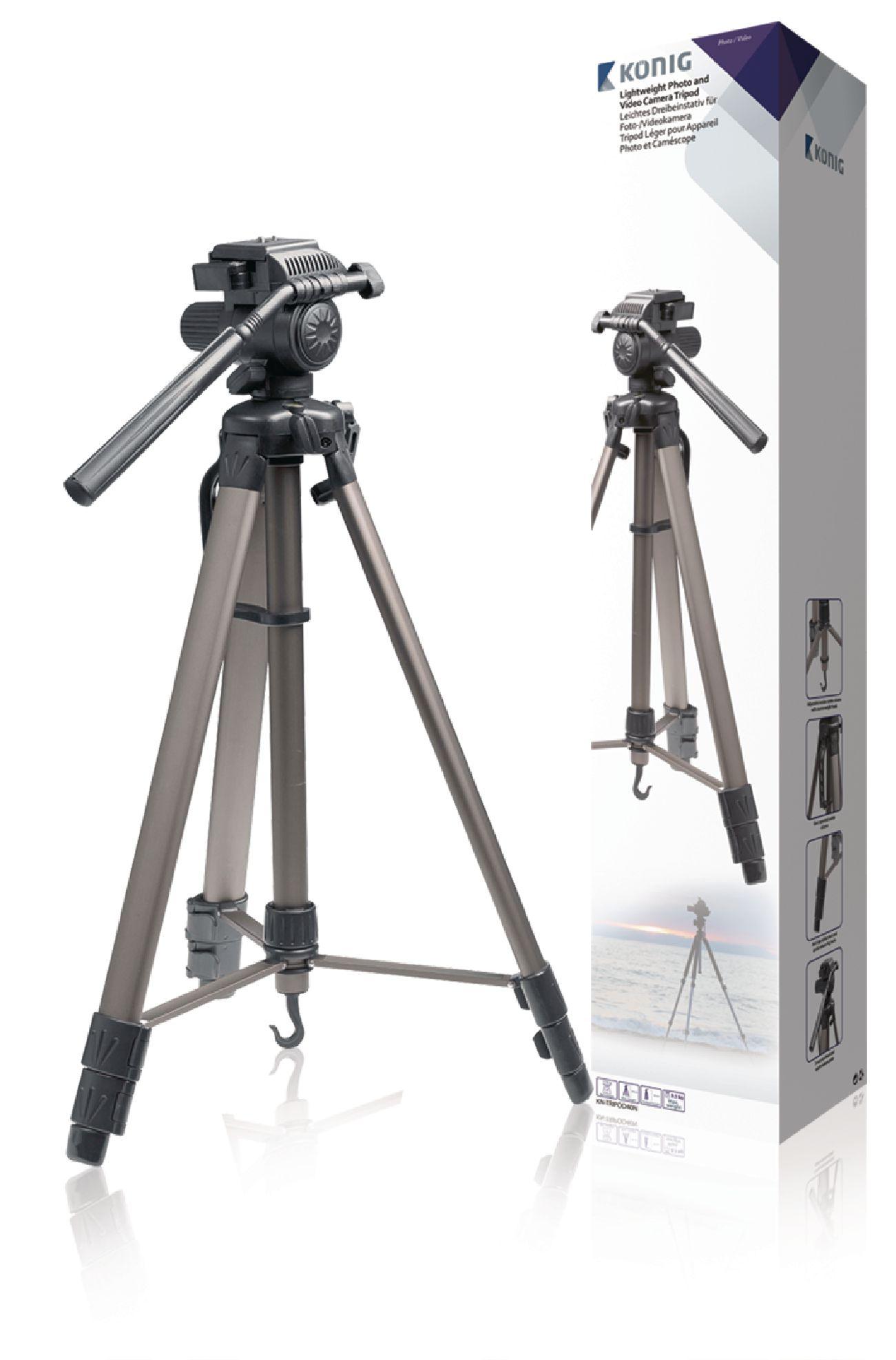 Image of   Kamera/video stativ vipbar, 161 cm. sort/sølv