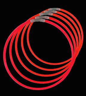 Knæklys armbånd, ensfarvede, 100 stk. Rød