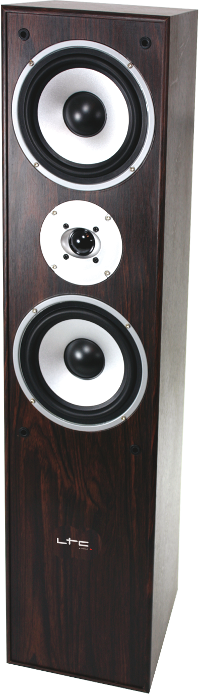 3-WAY HIFI BASS REFLEX BOXES 350W - WALNUT