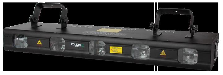 Image of   Laser 560 mW med 5 linser, RGBYP og DMX