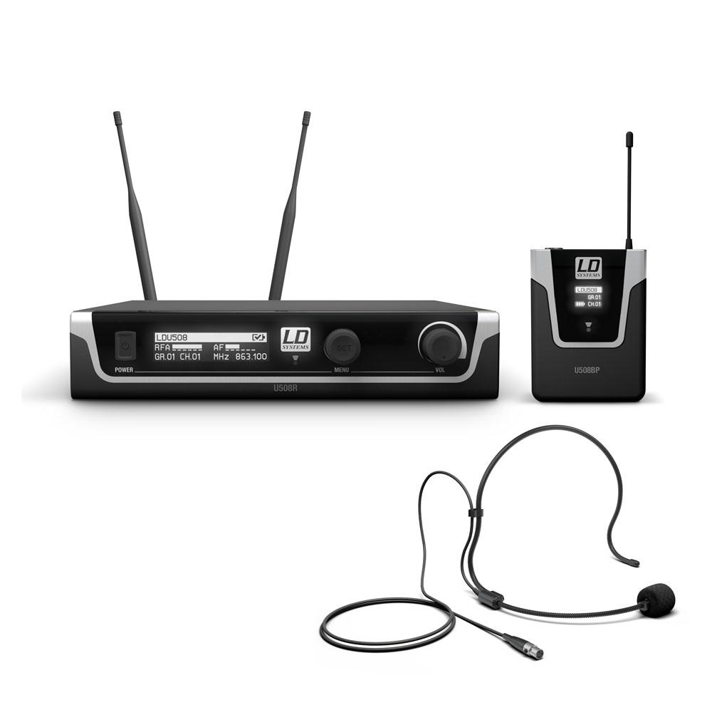 LD Systems U508 BPH - Trådløs mikrofon system med Bodypack og Headset