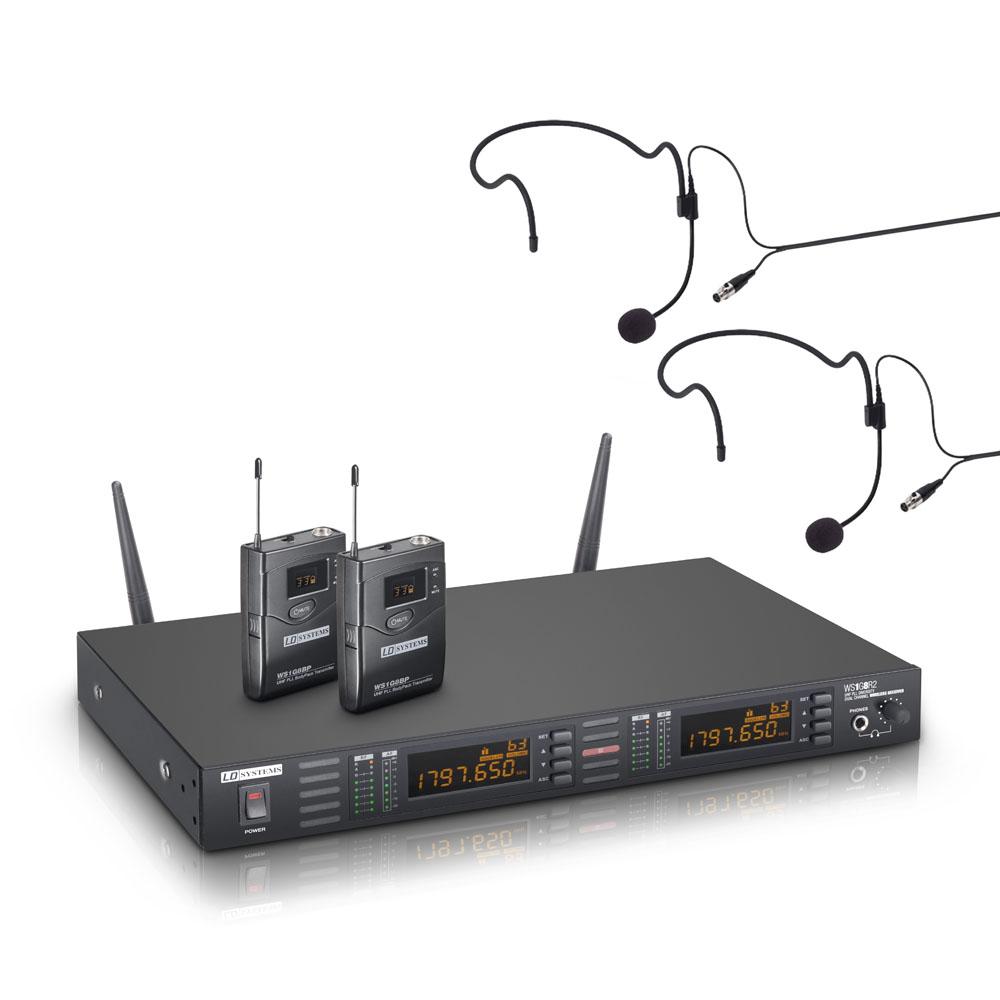 LD Systems WS 1G8 BPH2 Dobbelt Trådløs Headset mikrofonsæt