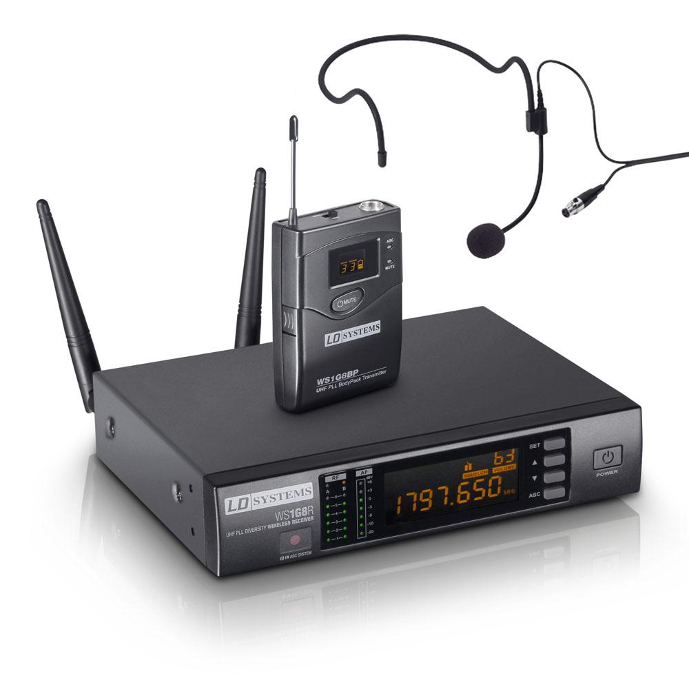 LD Systems WS 1G8 BPH Trådløs Headset mikrofonsæt