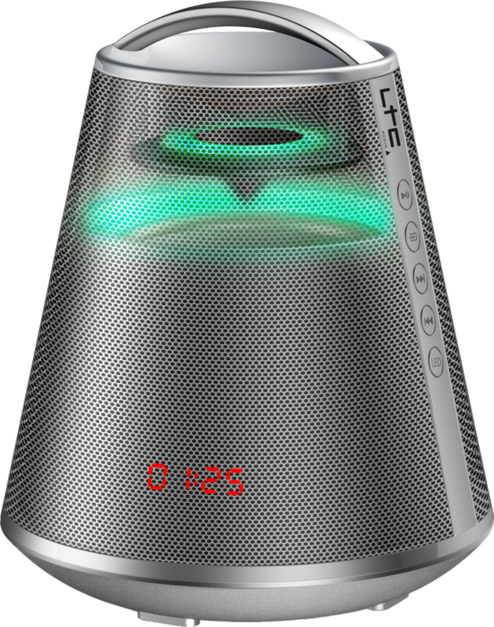 Image of   LED belyst bluetooth højttaler, 100W Sølv