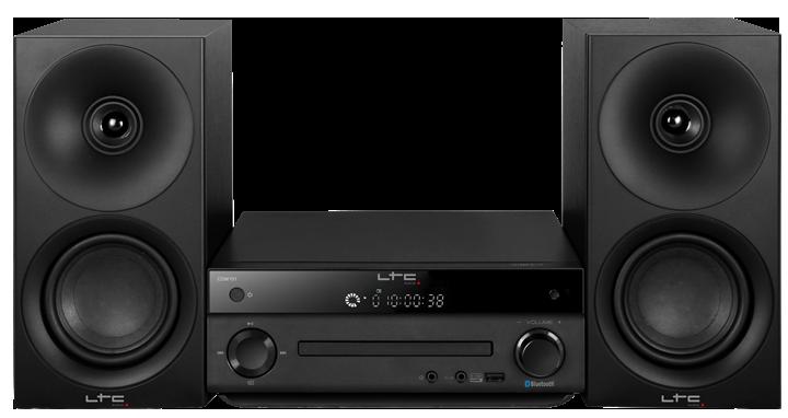 Image of   LTC mikroanlæg med AM/FM, CD afspiller, Bluetooth, 2 x 20W Sort