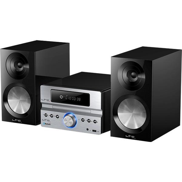 Image of   LTC mini anlæg med AM/FM radio, CD afspiller & bluetooth, 2 x 20W