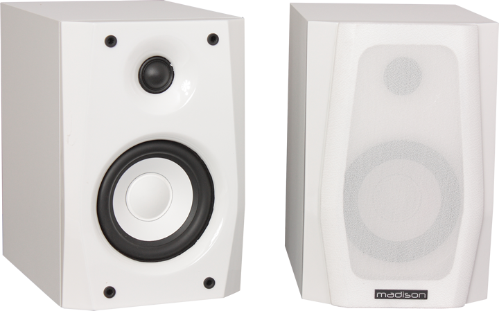 Image of   2-WAY BOOKSHELF HIFI SPEAKERS - WHITE