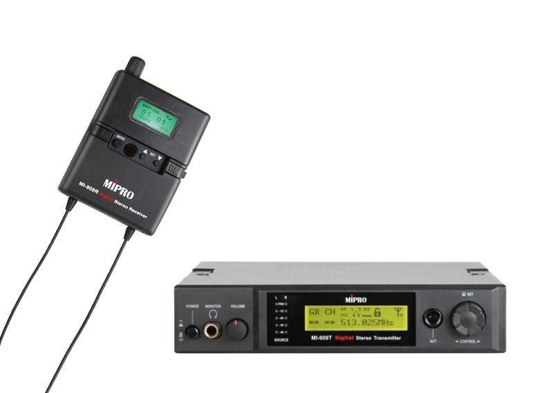 Mipro In-Ear monitor digital sæt, komplet m/sender, modtager