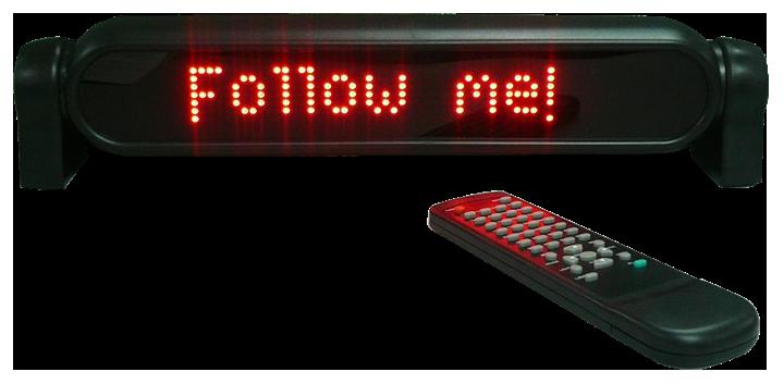 Image of   LED lysskilt med fjernbetjening
