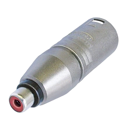 Image of   Neutrik Adapter XLR Han til RCA Phono Hun