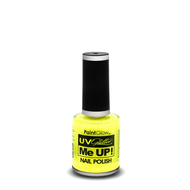 PaintGlow Neon UV Glitter nail polish Sherbet Lemon