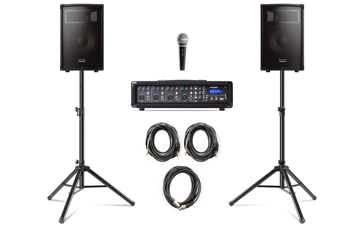 Image of   Alesis PA System In A Box Bundle
