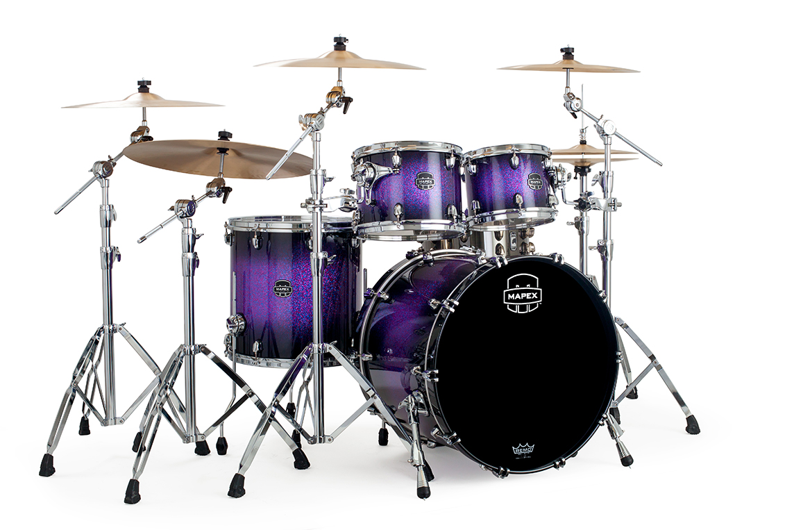 Image of   Mapex Saturn V MH Trommesæt Red & Blue Hybrid Sparkle