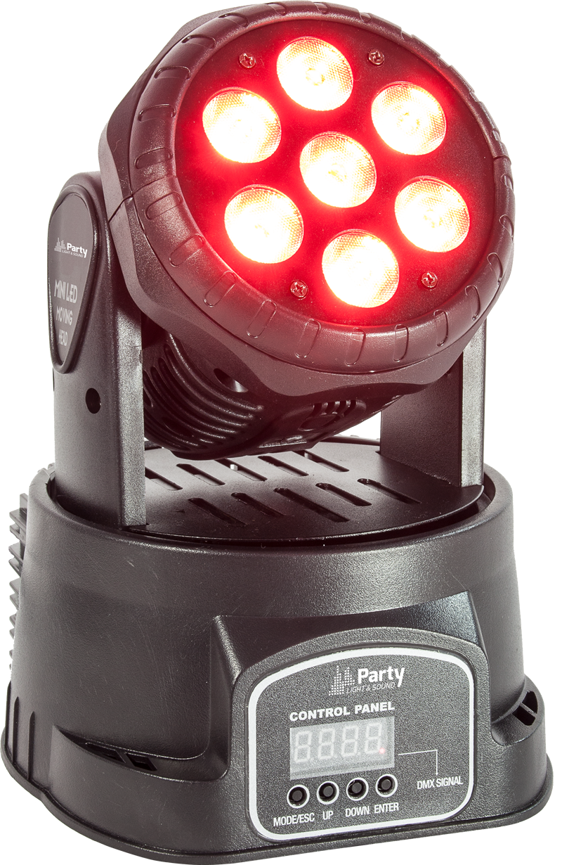 Image of   Party Light & Sound Moving Head Wash LED 7x8W RGBW