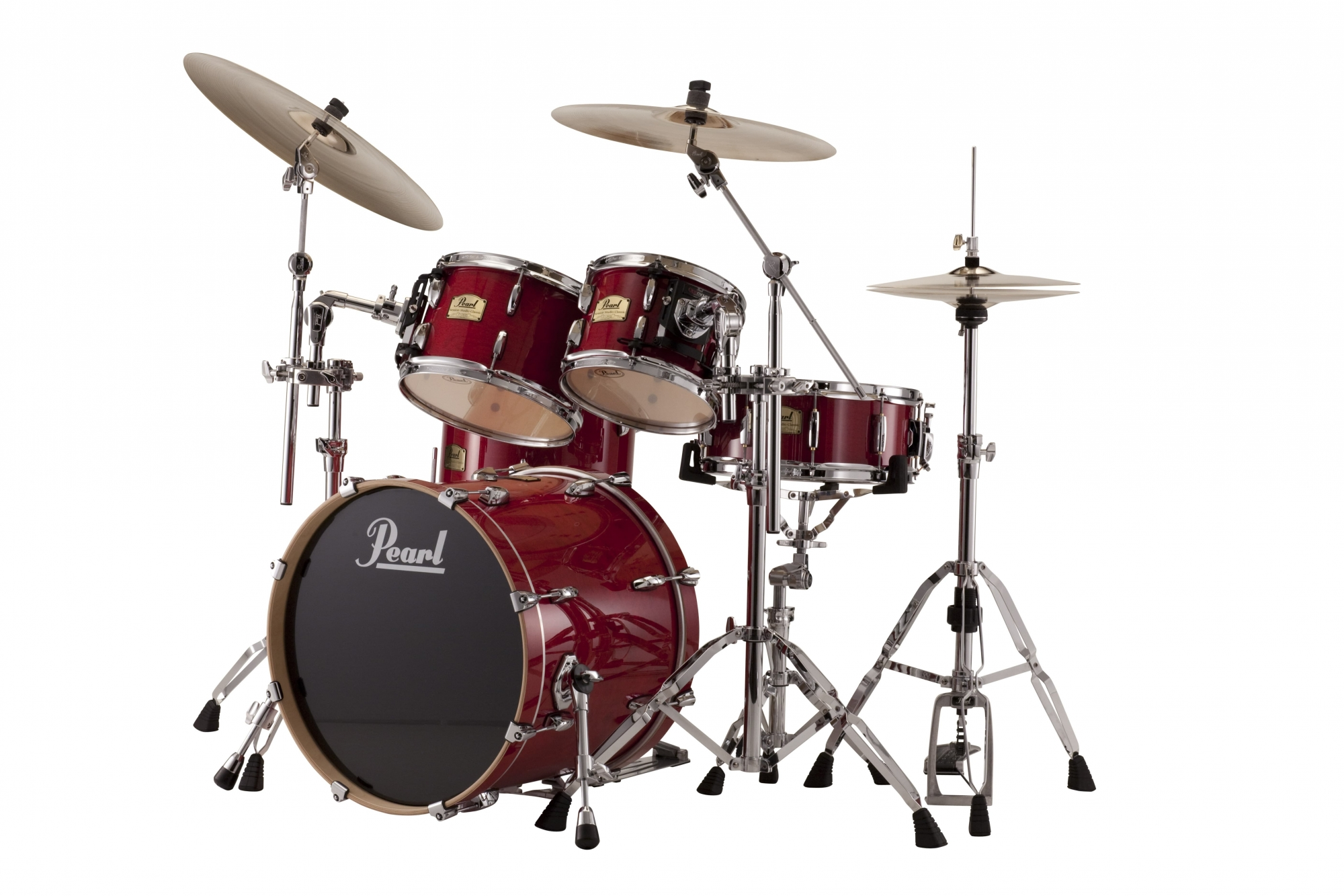 Image of   Pearl Session Studio Classic Studio Trommesæt Sequoia red