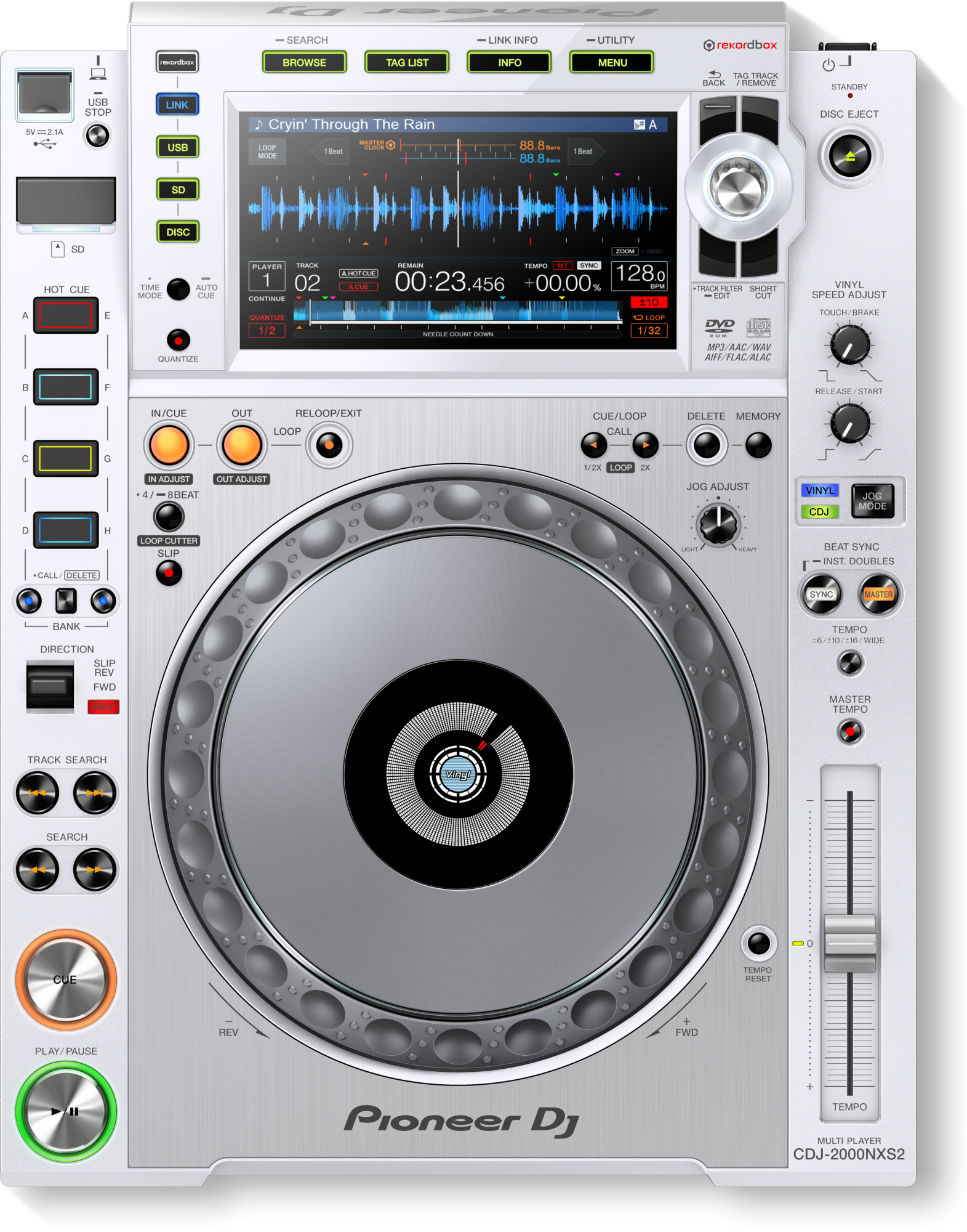 Image of   Pioneer CDJ-2000 NXS2 W limited edition DJ afspiller