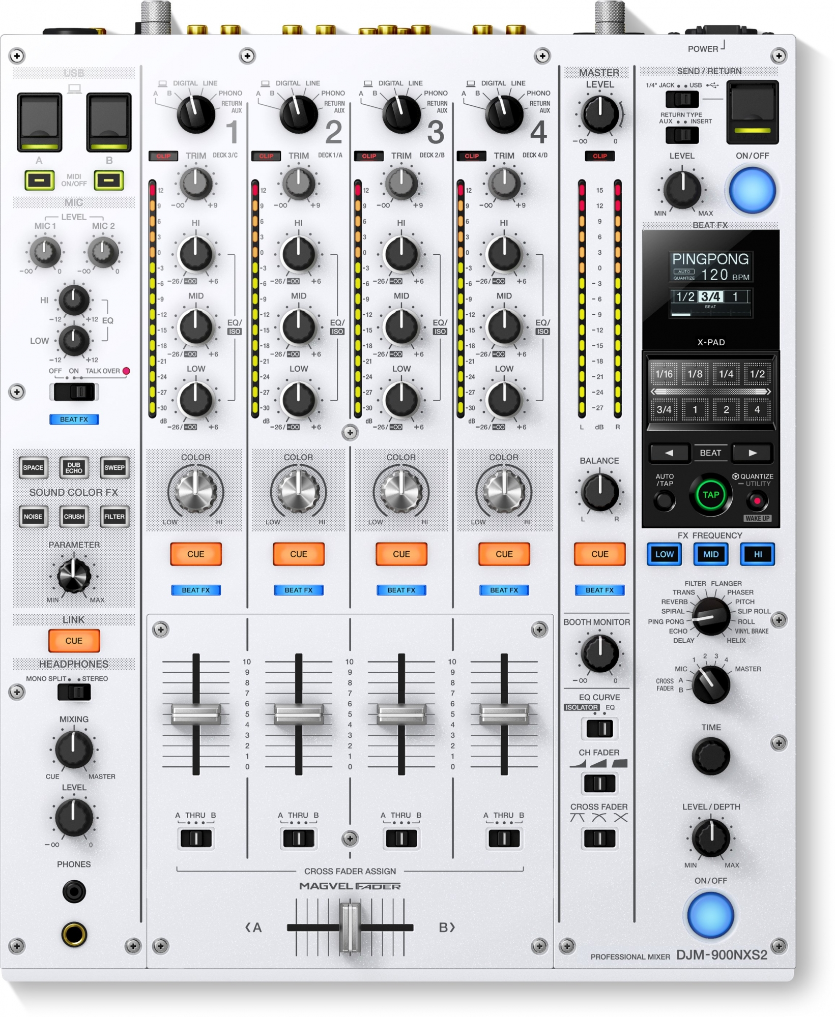 Image of   Pioneer DJM-900 NXS2 W limited edition DJ mixer