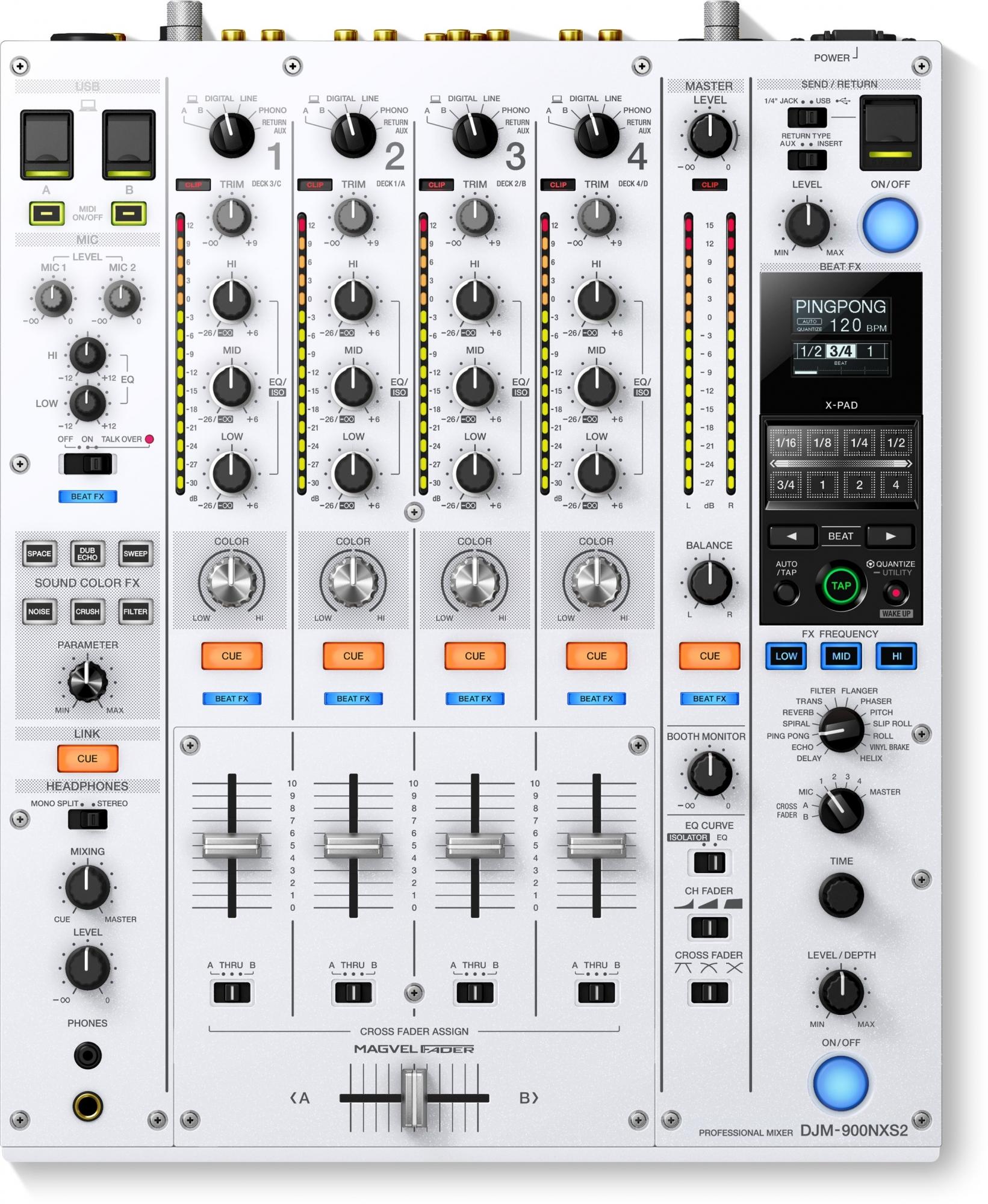 Pioneer DJM-900 NXS2 W limited edition DJ mixer