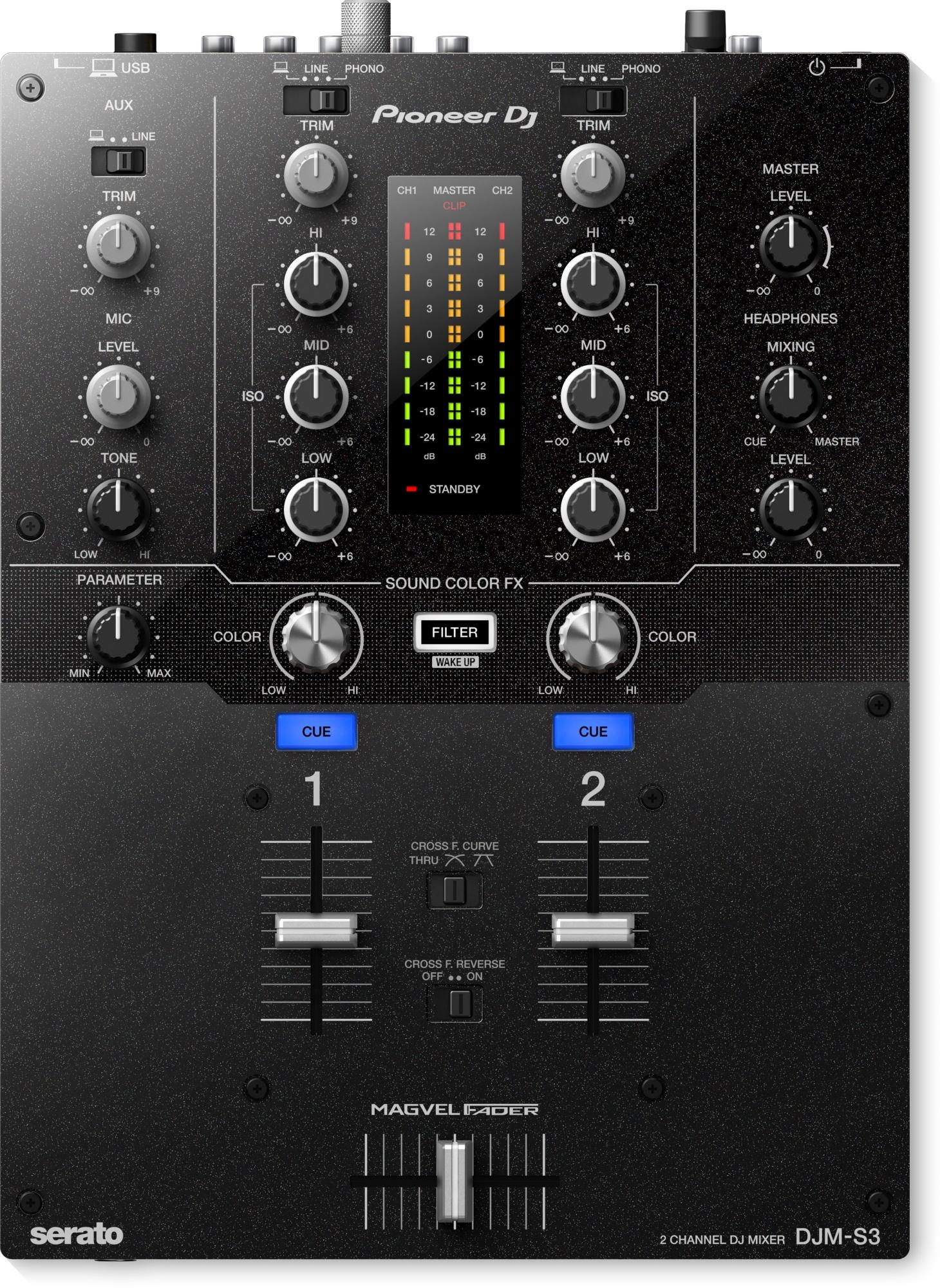 Pioneer DJM-S3 2-kanals mixer
