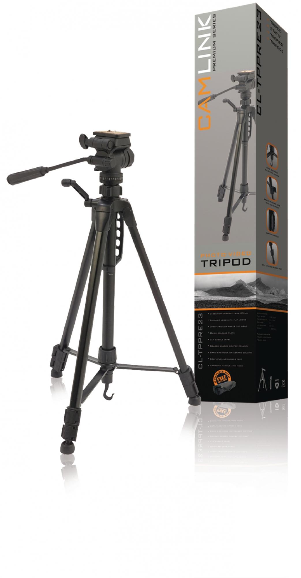 Image of   Premium kamera/video stativ vipbar, 160 cm. sort
