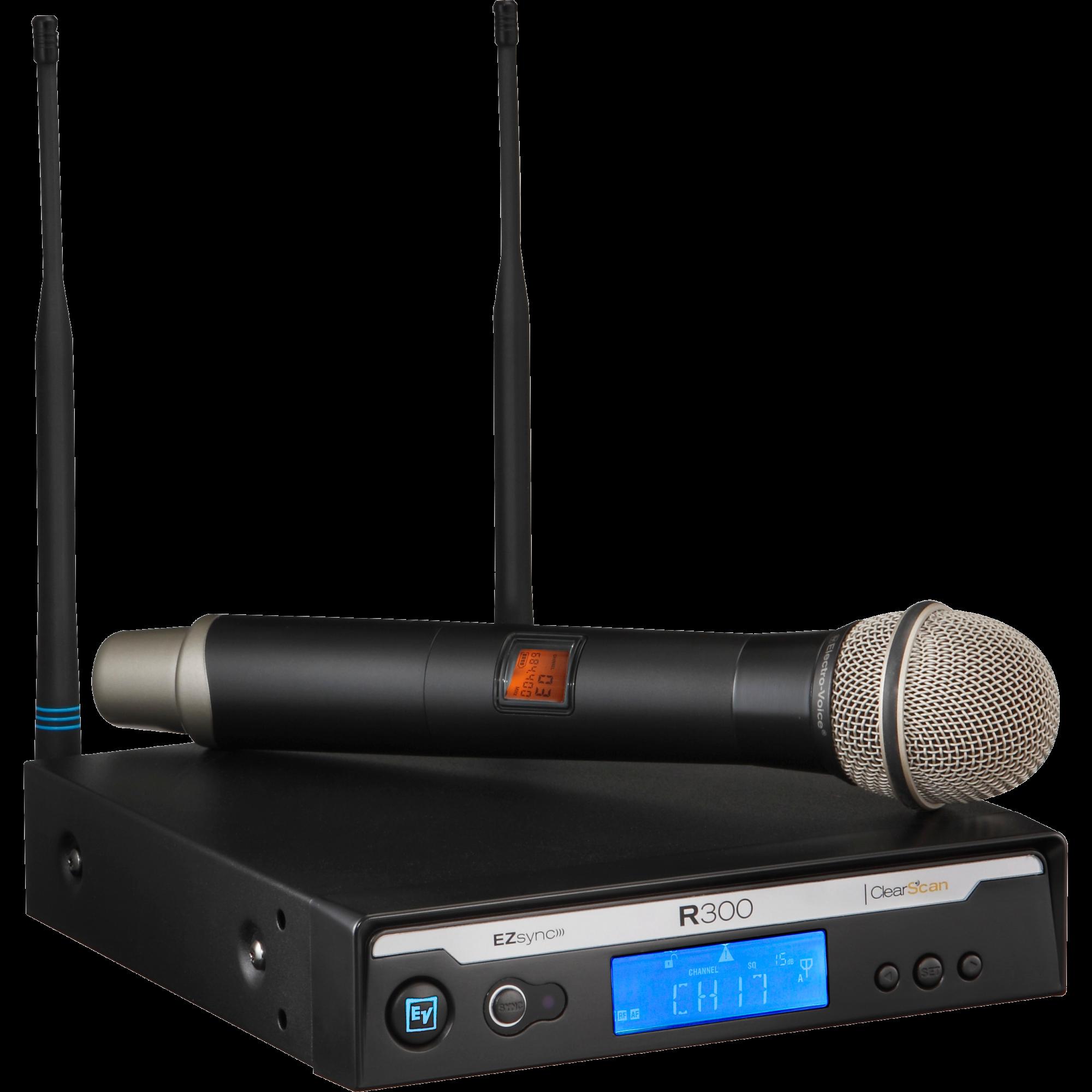 Electro-Voice R300-HD Trådløs Håndholdt mikrofon Frekvensbåndbredde E (850 - 865 MHz)