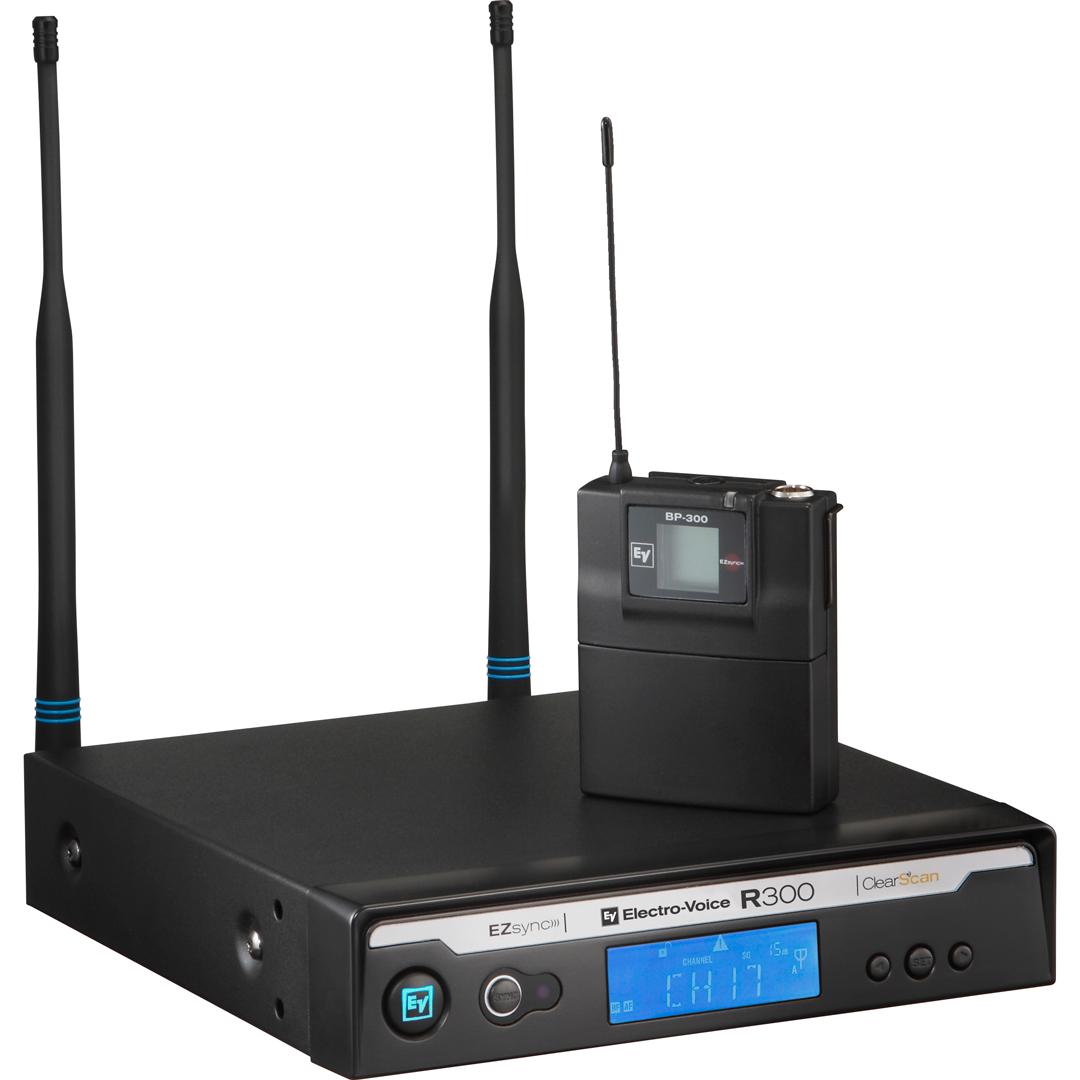 Electro-Voice R300-L Trådløs Clips mikrofon Frekvensbåndbredde E (850 - 865 MHz)
