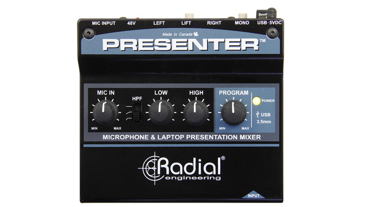 Image of   Radial Presenter Av Presentation Interface W/ Usb, 3,5Mm & Mic Ins, Stereo