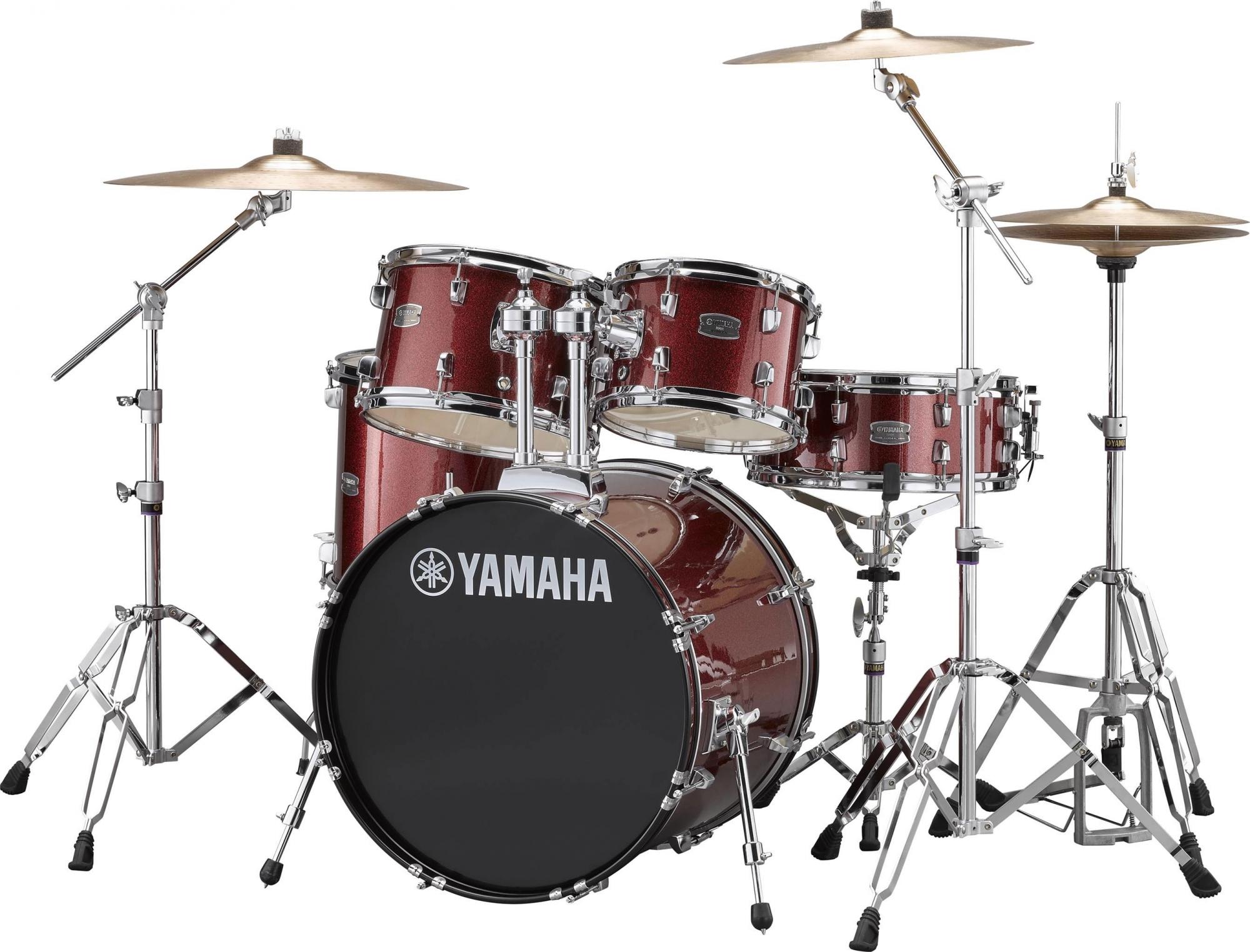 Yamaha RYDEEN Studio Trommesæt - inkl. bækkener & hardware Burgendy Glitter