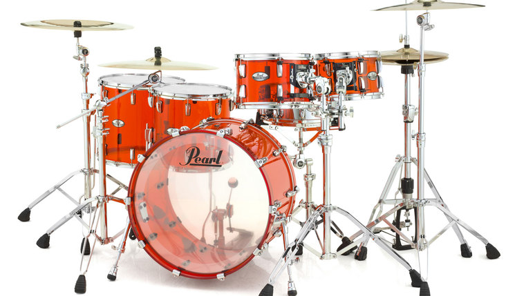 Image of   Pearl Crystal Beat Studio Trommesæt Ruby Red
