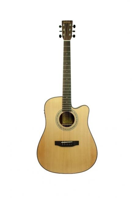 Image of   Santana ST200CW Western Guitar - Cutaway, Pickup, Taske og Stativ