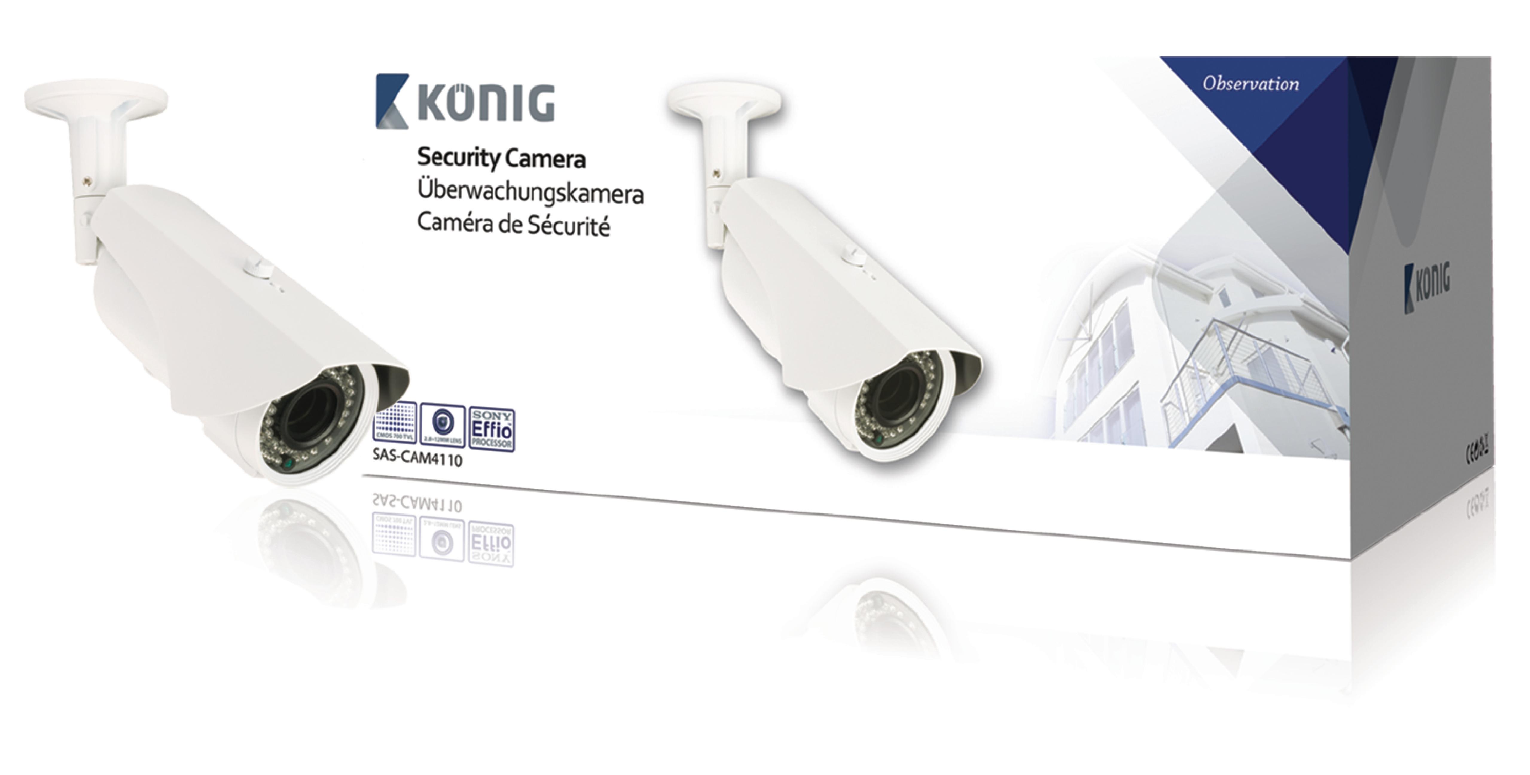 Patron Cctv Kamera 700 TVL IP66 Hvid