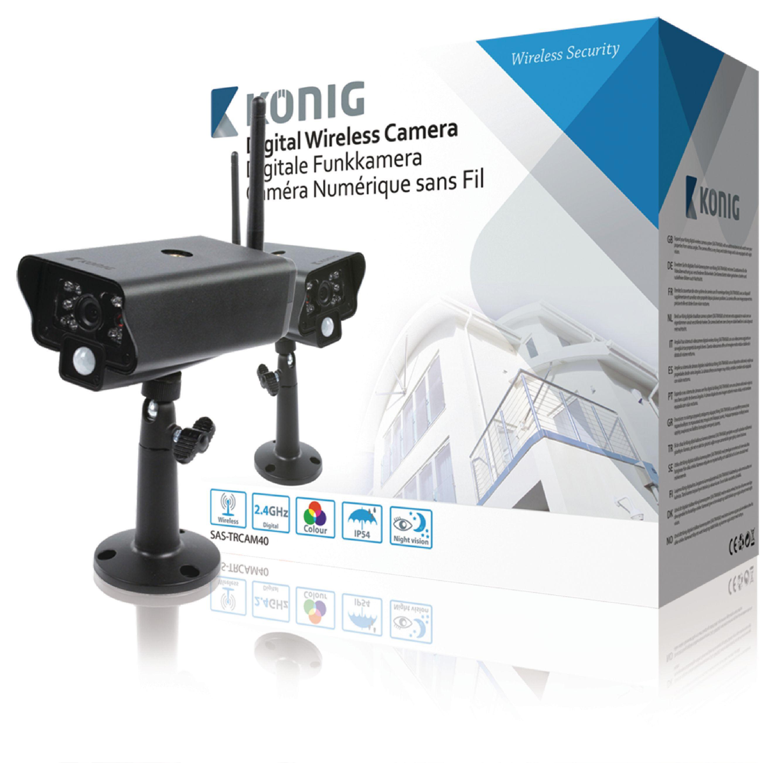 Image of   2,4 Ghz Trådløs Kamera Udendørs VGA Sort