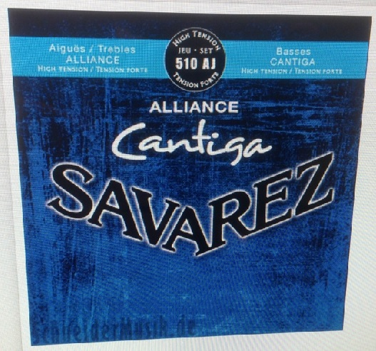 Savarez 510AJ classic Cantiga Blue guitar strenge High