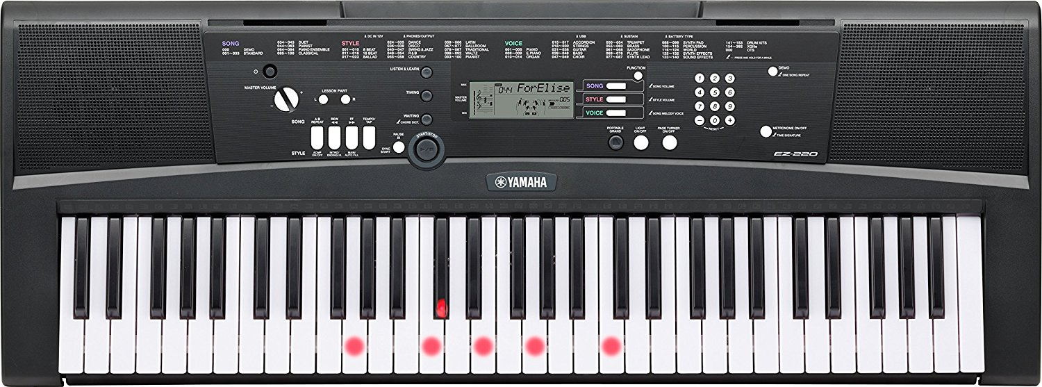 Image of   Yamaha EZ-220 Keyboard