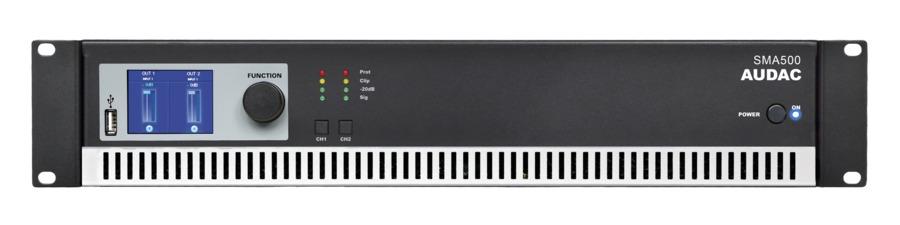 Audac SMA500 forstærker 2 x 500W 4 Ohm