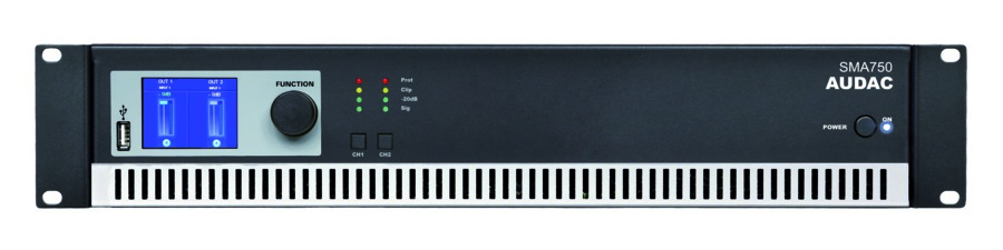 Audac SMA750 forstærker 2 x 750W 4 Ohm