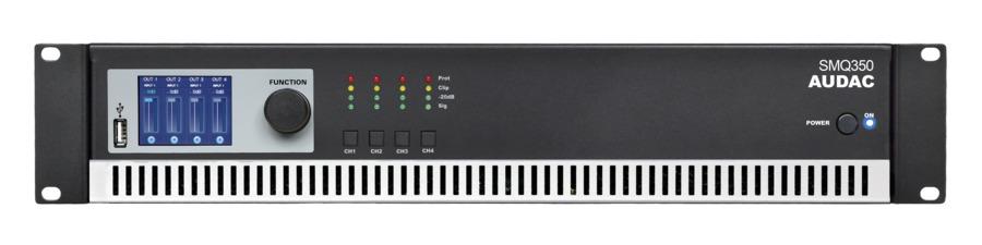 Audac SMQ350 forstærker 4 x 350W 4 Ohm