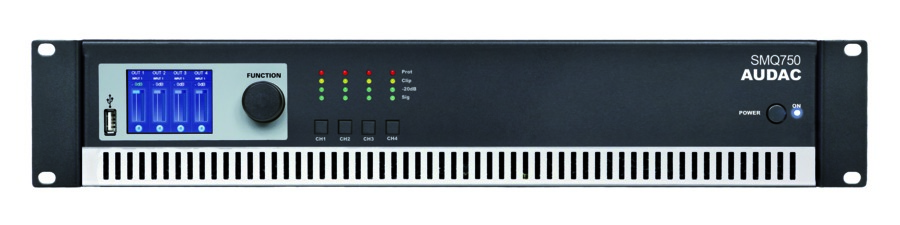 Image of   Audac SMQ750 forstærker 4 x 750W 4 Ohm