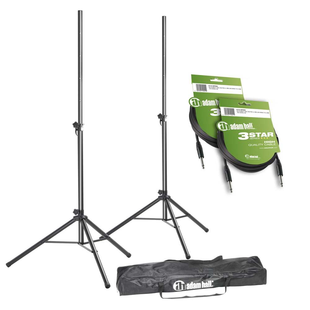 Højttaler Stativer med Taske og Kabler (25kg/1,95m)