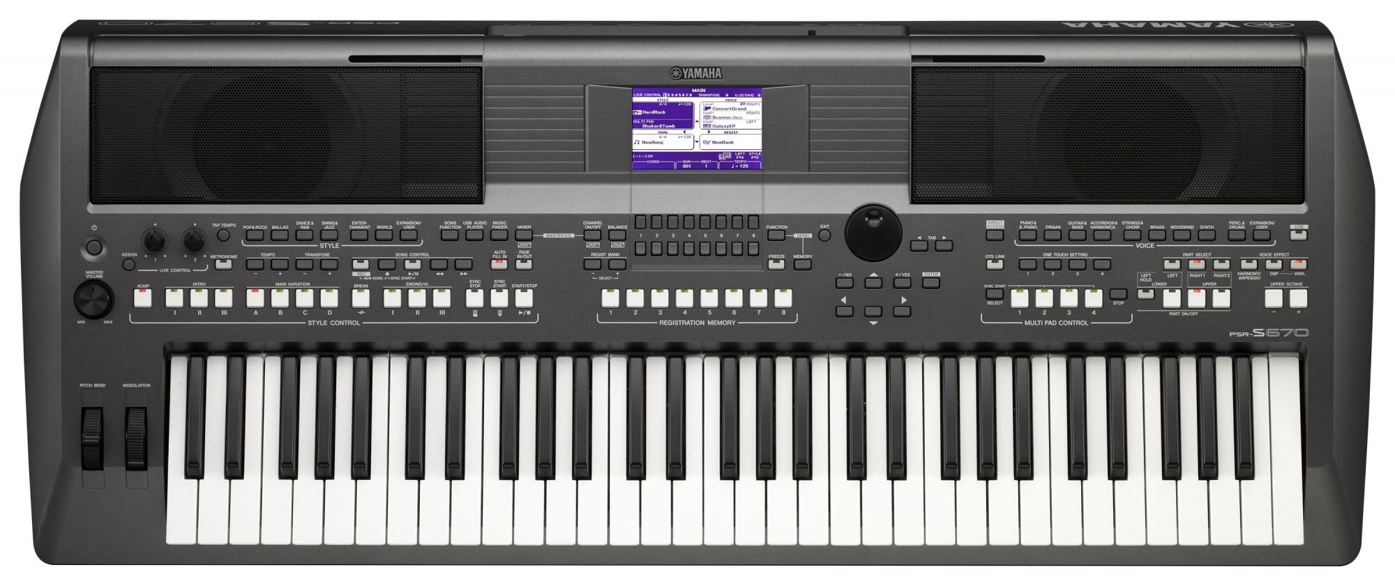 Yamaha PSR-S670 Digital Keyboard - Sort